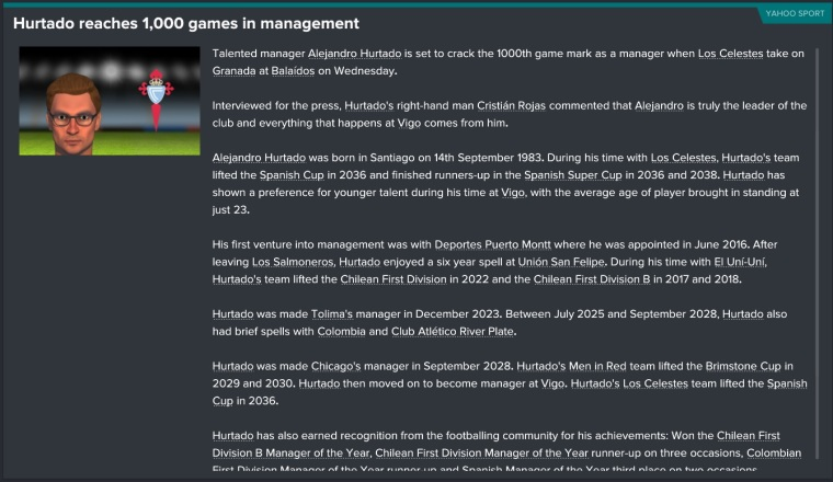 1000 games in management