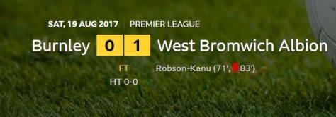 burnley v west brom result