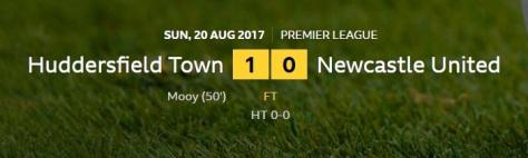 huddersfield v newcastle result