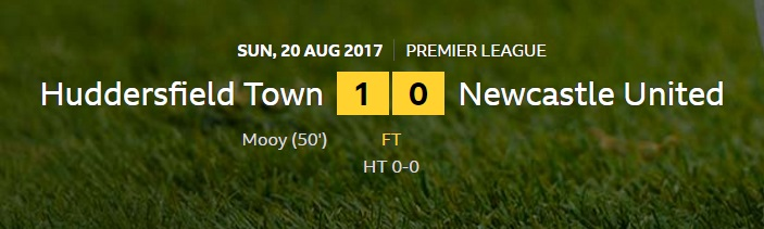 huddersfield v newcastle result