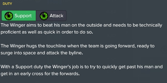 winger support role