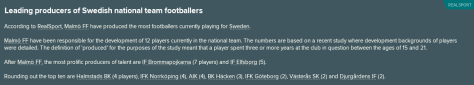 Leading producer national team
