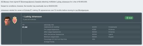 Johansson till Monaco