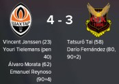 cl 3 loss v shakhtar