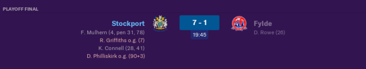 Playoff final