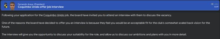 coquimbo unido job interview